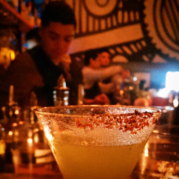 Excellent mezcal and pulque drinks from Rigo and Alex