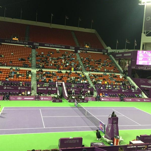 Photo taken at Qatar Tennis Federation by Dr, Omar A. on 2/23/2016