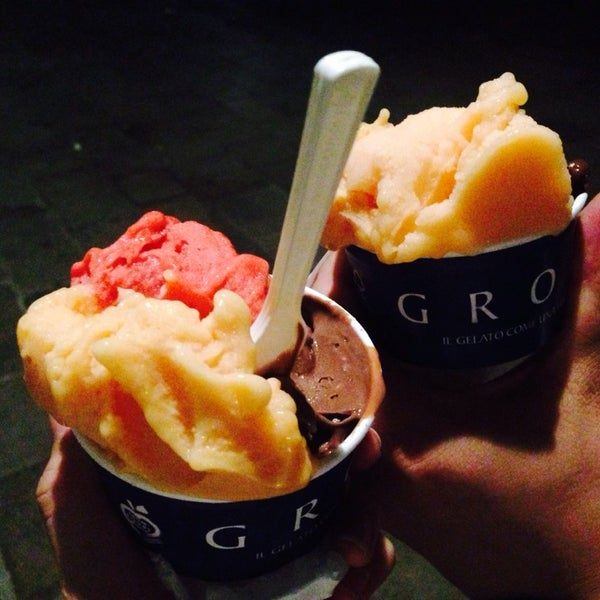 Photo taken at Grom by Ga young on 8/11/2014