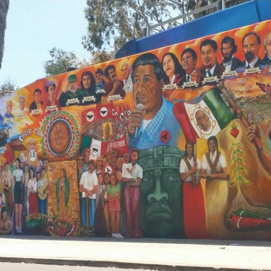 Photo taken at Chicano Park by J B. on 6/21/2014