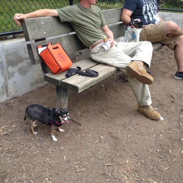 Photo taken at Cunningham Park Dog Run by MN R. on 7/30/2014