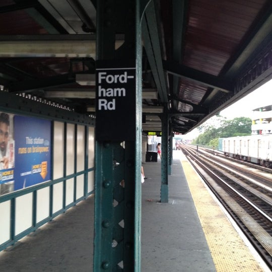 Photo taken at MTA Subway - Fordham Rd (4) by Charles H. on 6/21/2012