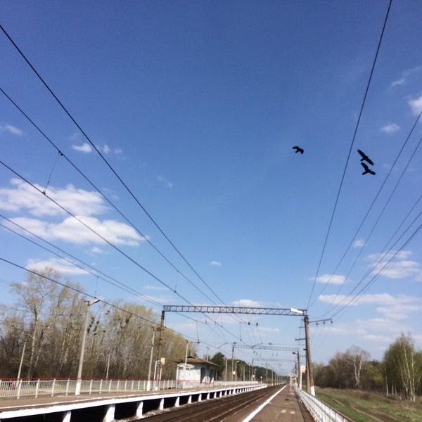 Photo taken at Платформа Хорошово by Eugene P. on 4/30/2017
