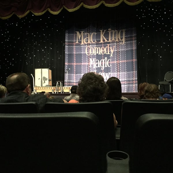 Photo taken at The Mac King Comedy Magic Show by Jason L. on 4/11/2015