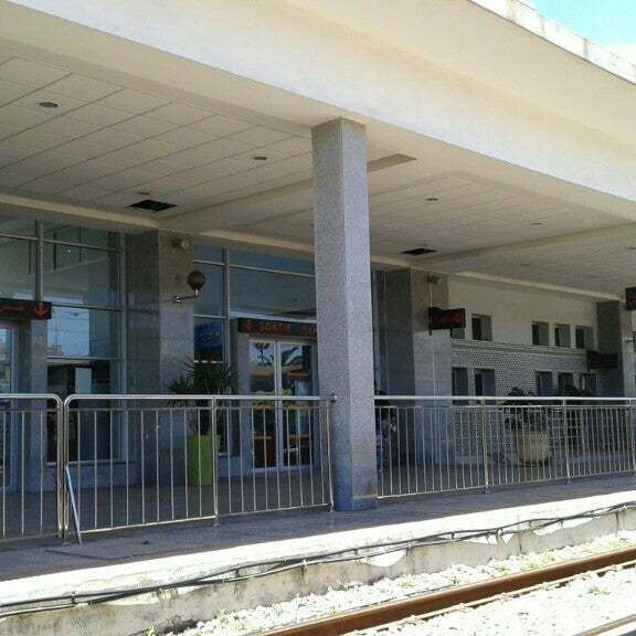 Photo taken at Gare de Mohammédia  محطة المحمدية by Jalil E. on 4/23/2016