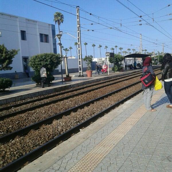 Photo taken at Gare de Mohammédia  محطة المحمدية by Jalil E. on 10/13/2015