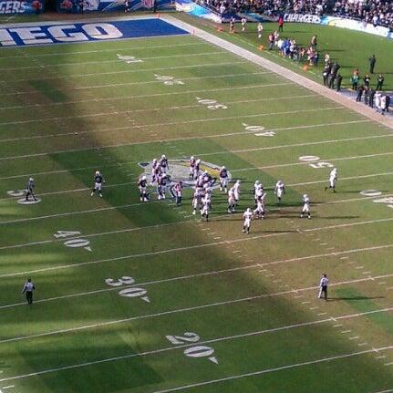 Photo taken at Qualcomm Stadium by Paul S. on 12/30/2012