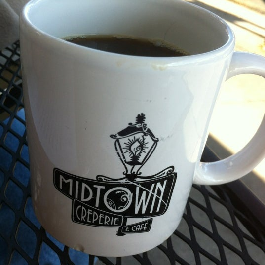 Photo taken at Midtown Crêperie & Café by Laura G. on 11/10/2012