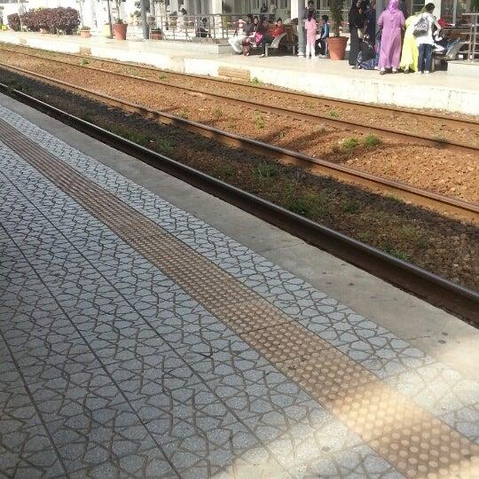 Photo taken at Gare de Mohammédia  محطة المحمدية by Wahid R. on 4/18/2013