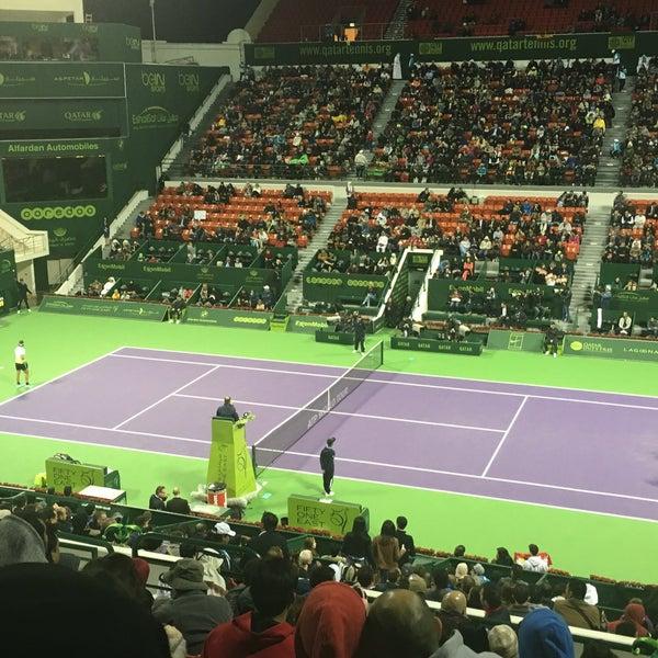 Photo taken at Qatar Tennis Federation by Avalishoooz on 1/5/2016