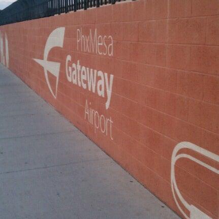Photo taken at Phoenix-Mesa Gateway Airport (AZA) by Chris K. on 8/14/2012