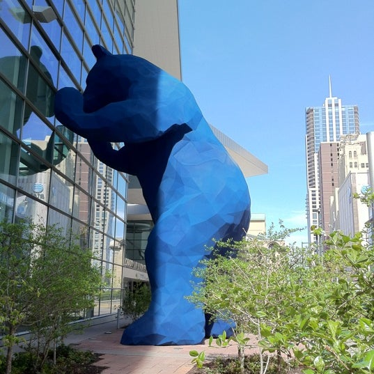 Photo taken at Big Blue Bear (I See What You Mean) by Craig P. on 4/18/2012