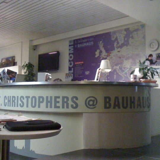 Photo taken at St Christopher's at the Bauhaus by Jimena G. on 5/16/2012