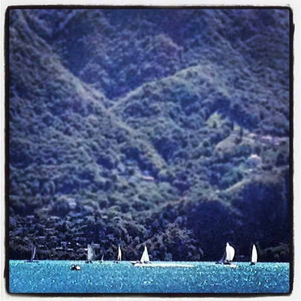 Photo taken at Lago di Lugano by Johann R. on 8/26/2012