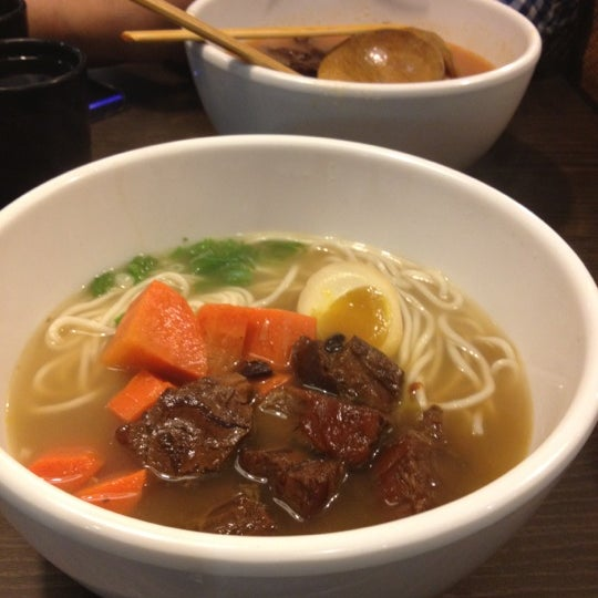Photo taken at Dong's Beef Noodles 董家台灣牛肉麵 by Katherine H. on 6/10/2012