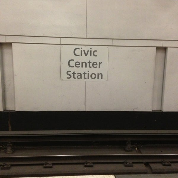 Photo taken at Civic Center/UN Plaza BART Station by Elliott P. on 6/11/2013