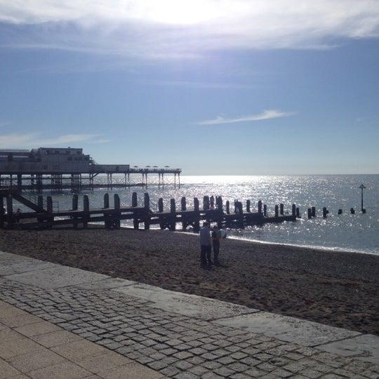 Photo taken at Aberystwyth Beach by †MuMu I. on 5/19/2013