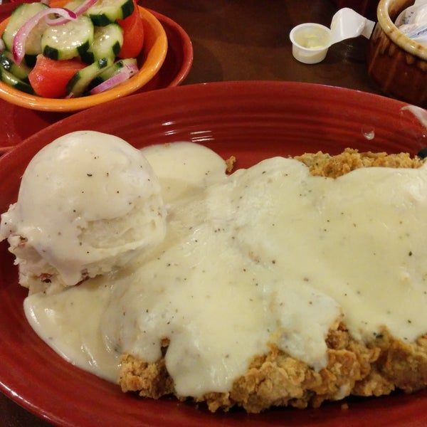 The have huge portions good service. The chicken fried steak is decent.