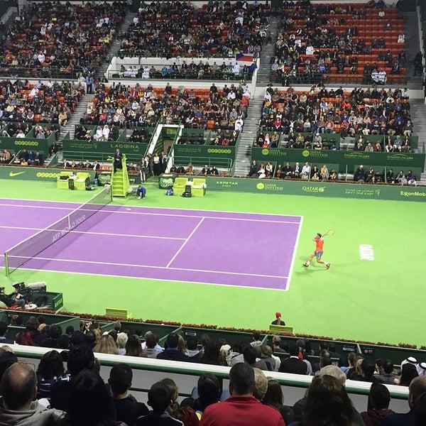 Photo taken at Qatar Tennis Federation by Zakareya A. on 1/10/2015