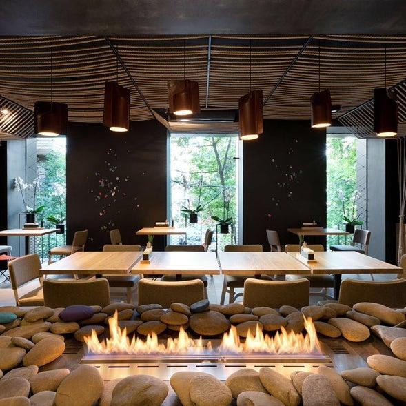 Прекрасный ресторан!                        Дизайн интерьера от YOD design Lab.