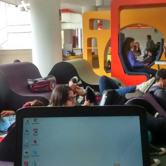 Photo taken at Biblioteca Juan Roa Vásquez by Laura V. on 8/11/2014