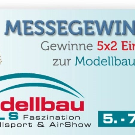 GEWINNSPIEL: Gewinne 5×2 Eintrittskarten zur Modellbaumesse Wels vom 5. – 7. April 2013 › gerys modellbau blog http://ow.ly/hUWN7