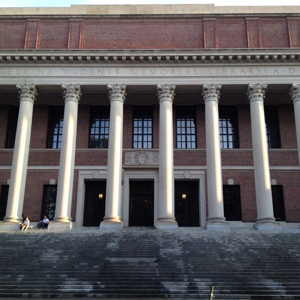 Photo taken at Widener Library by ひょん on 7/21/2013