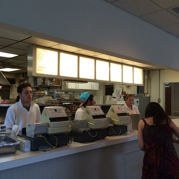 Photo taken at Bodo's Bagels by Mark T. on 8/24/2014