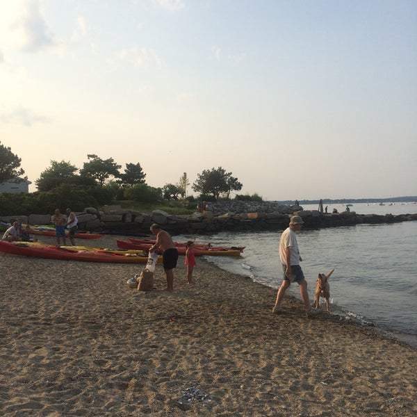 Photo taken at East End Beach by Nathan F. on 7/12/2015