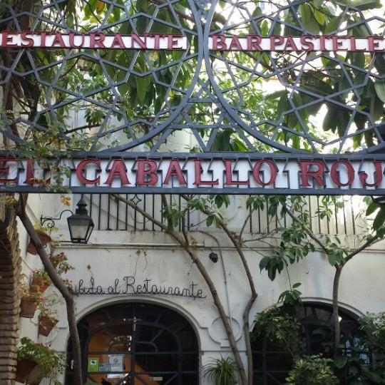 Photo taken at Restaurante El Caballo Rojo by Carmen J D. on 12/26/2014