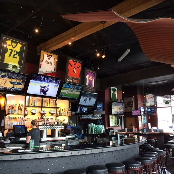 Photo taken at On Deck Sports Bar & Grill by PDXHappyHour G. on 4/26/2014