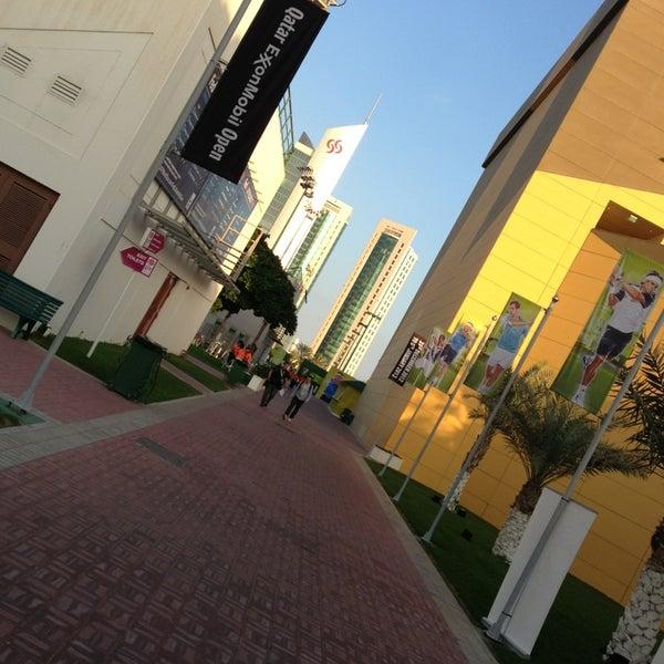 Photo taken at Qatar Tennis Federation by Fatma A. on 12/30/2012