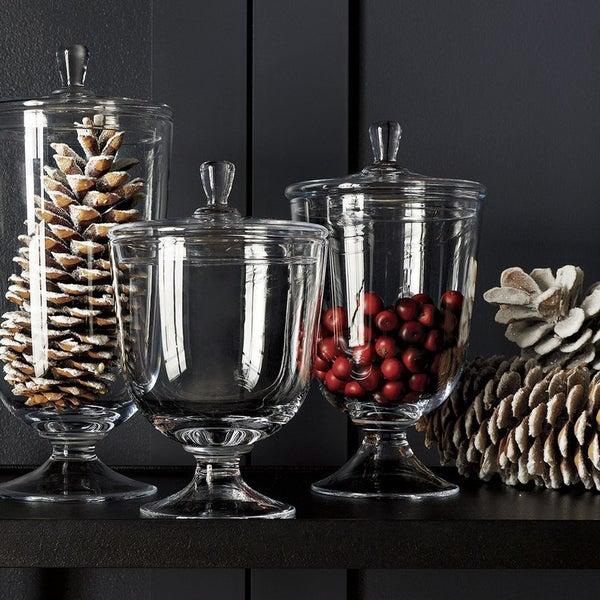 Классические ёмкости Anastasia прекрасно подойдут для подачи угощений и выполнят декоративную функцию, если поместить в них сезонные украшения.