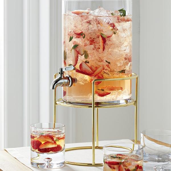 Изящный диспенсер для напитков Refreshment подходит для летних коктейлей, холодного чая и соков.