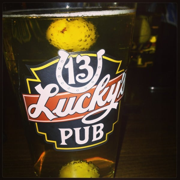 Photo taken at Lucky's 13 Pub by Kari F. on 1/15/2013