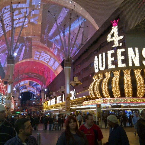 Photo taken at Fremont Street Experience by Alan P. on 1/27/2013