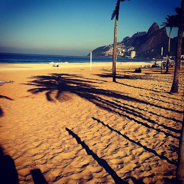 Photo taken at Ipanema Beach by Bruno A. on 6/29/2013