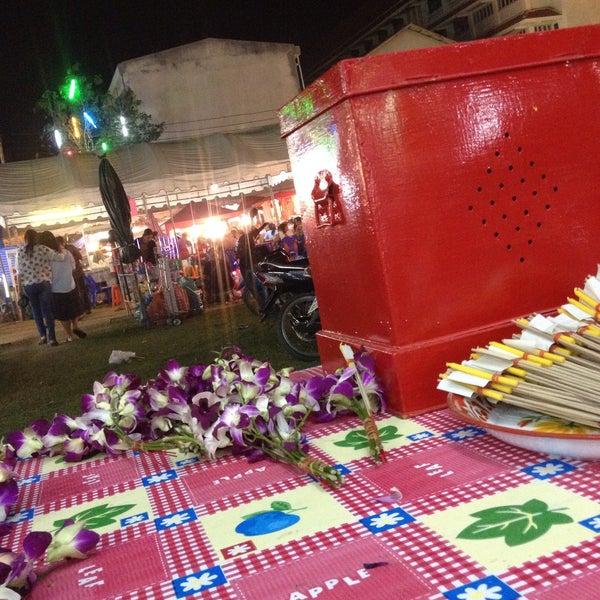 Photo taken at วัดดอนตูม บ้านโป่ง by JA K. on 2/5/2015