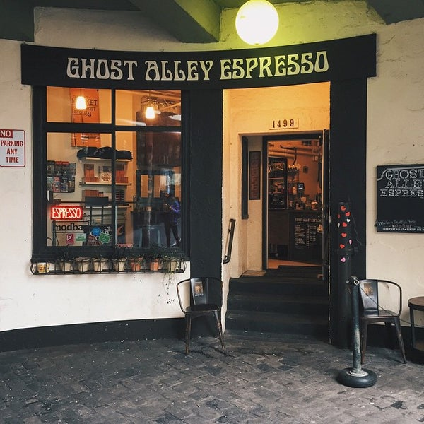 Photo taken at Ghost Alley Espresso by Pam ☕️ O. on 2/10/2015