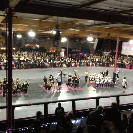 Photo taken at Doll Factory (L.A. Derby Dolls) by Alan M. on 12/9/2012
