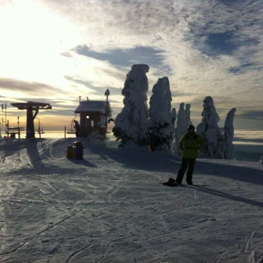 Photo taken at Cypress Mountain Ski Area by Eva V. on 1/13/2013