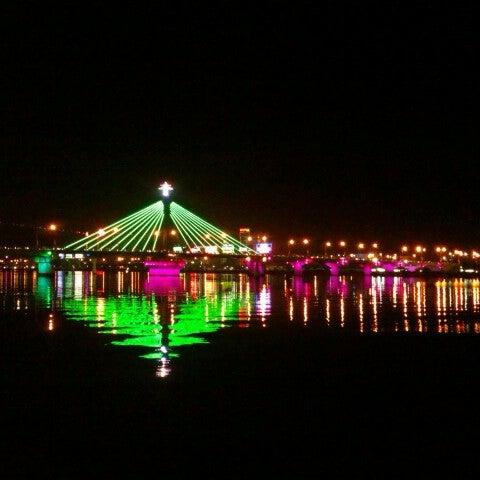 Photo taken at Han River Bridge by Nguyen D. on 1/22/2013