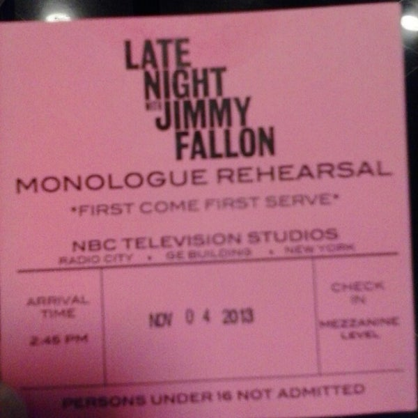 Photo taken at Late Night with Jimmy Fallon by Krystle M. on 11/4/2013