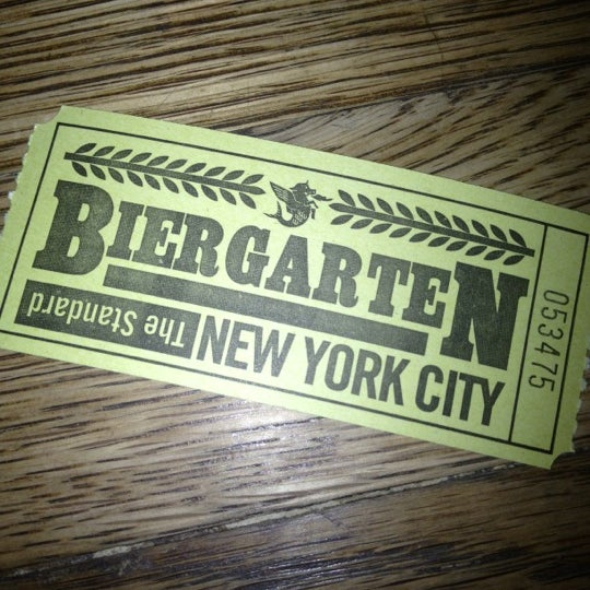 Photo taken at The Biergarten at The Standard by Ken H. on 10/11/2012
