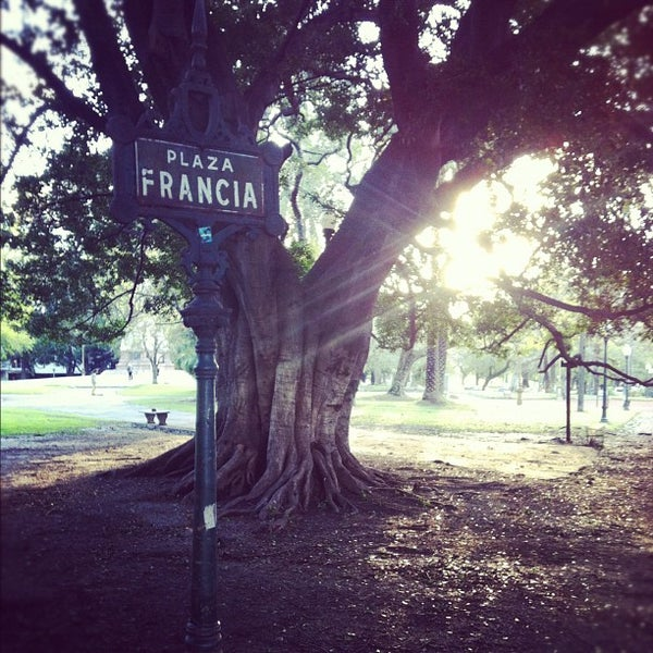 Photo taken at Plaza Francia by Hanns P. on 9/19/2012