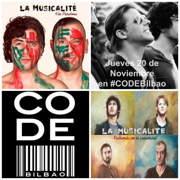 El próximo jueves 20, concierto acústico de La Musicalité en CODE Bilbao. ¡Pasa por www.codebilbao.com y consigue una invitación!