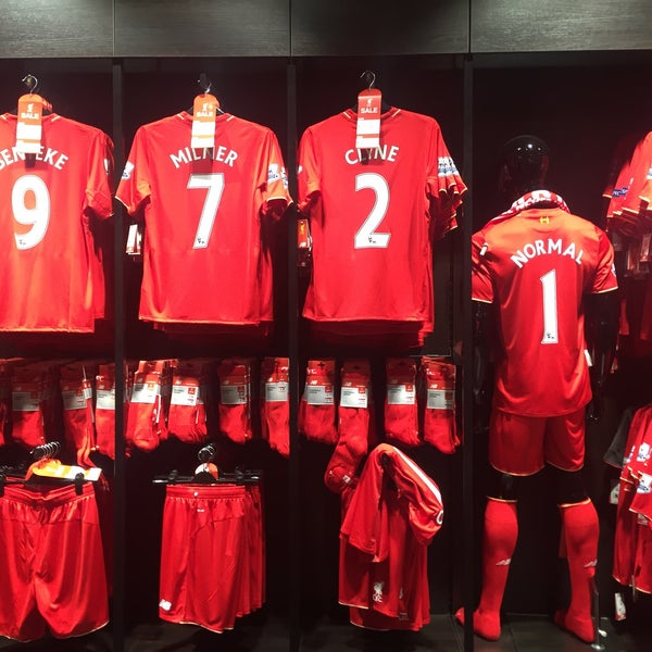 Photo taken at Liverpool FC Official Club Store by Punnada B. on 1/16/2016