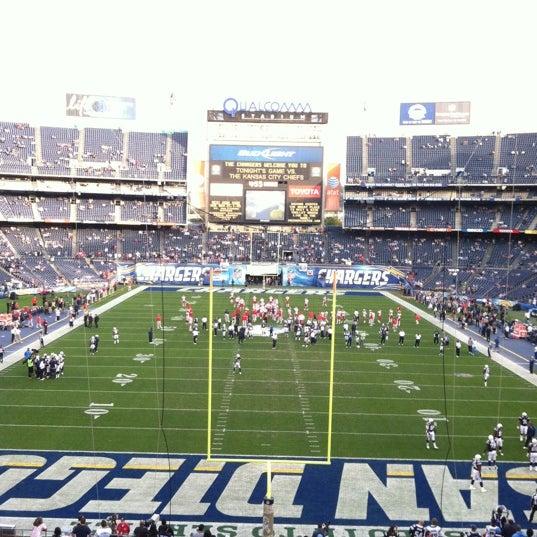 Photo taken at Qualcomm Stadium by Daniel S. on 11/1/2012