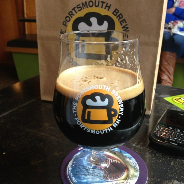 Photo taken at Portsmouth Brewery by Stephen S. on 3/16/2013