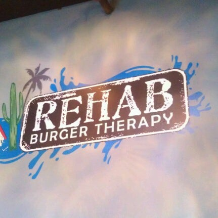 Photo taken at Rehab Burger Therapy by Tela O. on 7/25/2012
